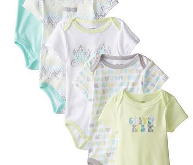 c9b89c145 Calvin Klein Baby Girls Mint & Lime Printed 5pc Bodysuit Set