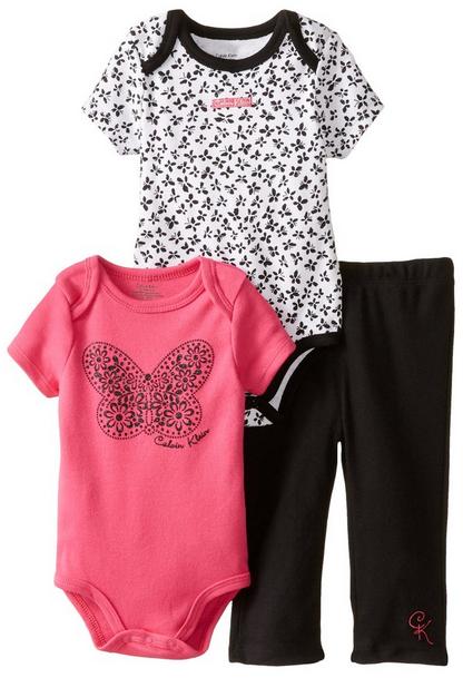 Calvin Klein Baby Girls Bodysuit Cloth 4 Baby