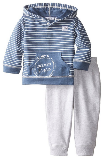 Calvin Klein Baby Boys Blue Hoody With Pants Cloth 4 Baby