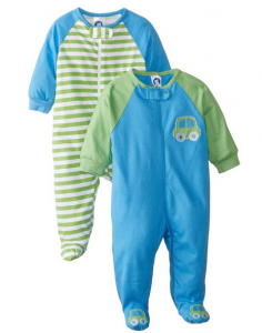 Gerber_Baby-Boys_Newborn_Zip-Front_Sleep_N'_Play_Baseball_Bodysuit_Two-Pack