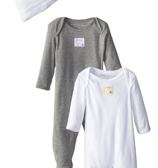 Burt's_Bees_Baby_Boys'_Organic_Four-Piece_Footed_Coverall_and_Knot_Cap_Set