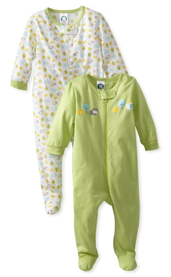 Gerber_Unisex-Baby_Newborn_2_Pack_Neutral_Sleep_N_Play_Zip_Front