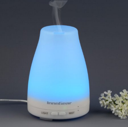 InnoGear®_100ml_Aromatherapy_Essential_Oil_Diffuser_Portable_Ultrasonic_Cool_Mist_Aroma_Humidifier_with_Color_LED_Lights_Changing_and_Waterless_Auto_S